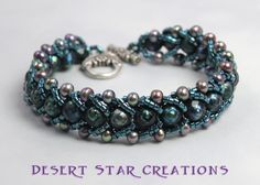 Freshwater Pearl Flat Spiral Bracelet - via @Craftsy. Flat spiral stitch tutorial @ http://www.youtube.com/watch?v=oiB_PID3sC4