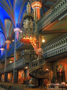 Notre Dame Basilica, Montreal, the most beautiful church I've ever been in … Quebec Montreal, Montreal Ville, Quebec City, The Places Youll Go, Great Places, Places To See, Beautiful Buildings, Beautiful Places, Westminster