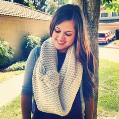 DIY Infinity scarf with bow detail