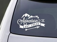 Laptop Decal - Laptop Sticker - Adventure is out there - Mac book Decal - Car Decal - Bumper Sticker - Adventure Decal - Mountains Decal - Car decor - Auto Vw Camper, Vw Bus, Campers, Mac Book, Jeep Decals, Vinyl Decals, Window Decals, Laptop Decal, Macbook Decal