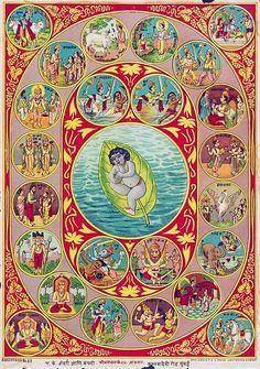 24 Avatars of Krishna R U & V Press, Ghatkopar Bombay (via Jaypore.com)