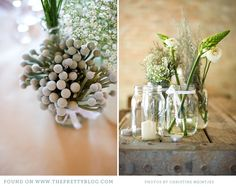 Love the variety of the flowers and the fairly simple arrangements