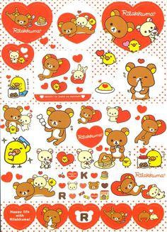 Rilakkuma Memo Pad noshing bear by San-X 6