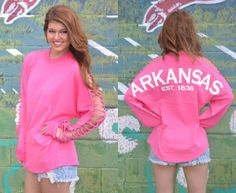 The cut outs in the arm make these adorable spirit jerseys perfect for the warmer weather. YES PLEASE!
