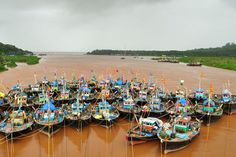 The Colourful Fishing Boats of India's Konkan Coast amid an impending Monsoon