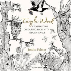 Tangle Wood - Illustrator and papercutter, Jessica Palmer, has created 75 pages of enchanting hand-drawn pictures for you to color and lose yourself in. The images all have a magical woodland theme, and each one includes a a 'hidden jewel', intricately worked into the design, which will include rings, brooches, pendants, chains, bracelets and earrings featuring insects, animals and leafy patterns. The book will include designs that fit on a single page as well as those that extend across a…