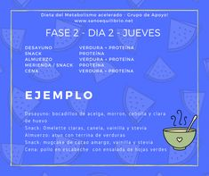 Una Semana de Ejemplo | Sano Equilibrio Stevia, Things To Do, Workout, Motivation, Health, Yoga, Planes, Fitness, Metabolic Diet