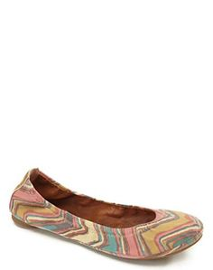Vintage inspired Lucky Brand ballet flats.