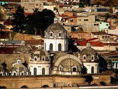 Cathedral of Quetzaltenango. Guatemala.