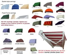 Retractable Awnings, Window Awnings, Vertical Awnings, Fixed Awnings, Terrace
