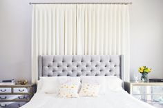 Elegant and bright lilac bedroom