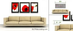 Sofa - easy tips to hang pictures above your sofa exactly where you want on the first try