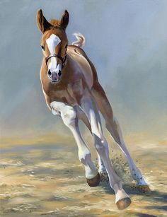 Full of Potential - Horse painting by Alecia Underhill