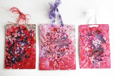 Melted Crayon Canvases - use acrylic paint on foil covered cardboard, let dry, sprinkle crayon shavings on top, bake at 175*, let harden, and hang as art canvases!