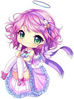 Commission - Sweet angel by Hyanna-Natsu.deviantart.com on @DeviantArt
