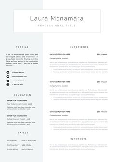 439 Best Creative and professional Resume Templates images in 2019