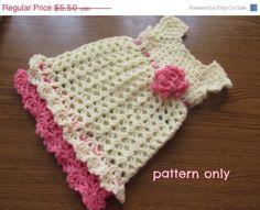 CIJ SALE Baby girl dress pattern 6 SIZE 0-24 months infant newborn baby crochet dress pattern baby girl dress pattern by paintcrochet on Etsy https://www.etsy.com/listing/230821804/cij-sale-baby-girl-dress-pattern-6-size