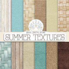 Shabby Digital Paper  Summer Textures by TheRoyalDigitalStore