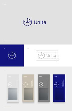 Unita · Brand identity on Behance Corporate Design, Business Logo Design, Brand Identity Design, Branding Design, Identity Branding, Corporate Logo Design, Branding Ideas, Stationery Design, Label Design