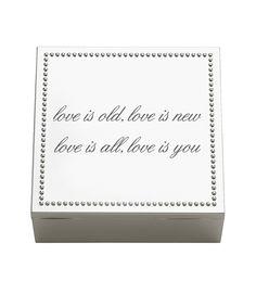 Wedding or anniversary keepsake box personalization Idea Reed & Barton - Lyndon Square Box Personalize