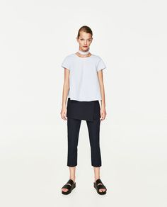 Image 1 of PEARL CHOKER TOP from Zara