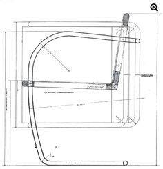 mehtapty: Mies Van Der Rohe Plan and section of Brno chair designed for dining area