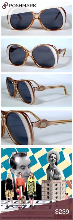 """Vintage Emilio Pucci Sunglasses! Deadstock! Vintage Pucci Sunglasses!!   --Absolute Perfection--  EXCELLENT condition, no flaws to note.Might have never been worn.   5"""" Wide x 2.25"""" top to bottom  Inner Arm Right:  Emilio Pucci 314 777  Inner Arm Left: 52 18 Emilio Pucci  😍😍😍 Emilio Pucci Accessories Sunglasses"""
