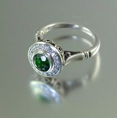 THE SECRET DELIGHT silver ring with Chrome Diopside by WingedLion, $570.00