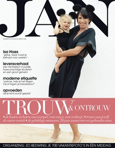 Isa Hoes | Cover JAN Magazine 7-2006 Art direction Brenda Bakker