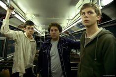 Christopher Mintz-Plasse, Jonah Hill y Michael Cera en Superbad