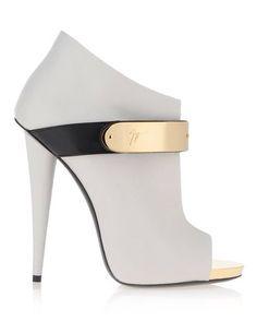 Giuseppe Zanotti white high heel booties (ankle boots)