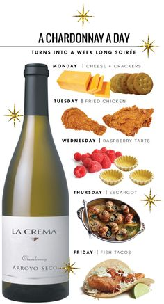 Enjoy Chardonnay All Week. I like me some La Crema Super Bowl Party, Tequila, Malta, Wine Leaves, Raspberry Tarts, Champagne, Wine Tasting Party, Wine Education, Wine Guide