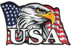 American Flag Eagle USA Large Back Patch