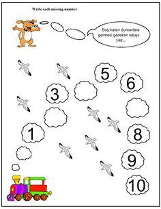 Missing number worksheet for kids(1-10)   Crafts and Worksheets for Preschool,Toddler and Kindergarten
