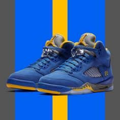 "official photos 4616c 8874b Sneaker News on Instagram  ""Jordan Brand returns to Michael Jordan s Laney  High School colors for an upcoming Air Jordan 5 Retro release. Available 1 26  in ..."