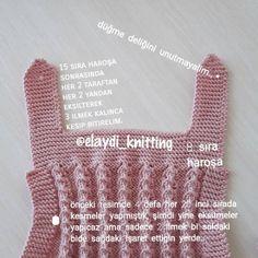 Çok Harika Tığ İşi Oya Modelleri Knit Baby Dress, Baby Knitting Patterns, Fingerless Gloves, Arm Warmers, Crochet Top, Diy And Crafts, Creations, Baby Shower, Children