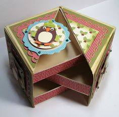 Jillibean Soup Week-Day 3 -Project ideas using your Scor-Pal Craft Tutorials, Craft Projects, Project Ideas, Cute Box, 3d Paper Crafts, Fancy Fold Cards, Craft Box, Home And Deco, Diy Box