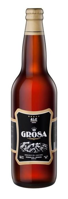 Cerveja Grosa, estilo Wood Aged Beer, produzida por Cervecería Jerome , Argentina. 9% ABV de álcool.