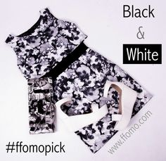 we love our monochromes at ffomo so why not check out our other items .... http://ffomo.com  dress-http://ffomo.com/collections/dresses/products/chloe-monotone-floral-overlay-dress shoes-http://ffomo.com/collections/sandals/products/freya-white-pu-ankle-strap-flatform-sandal bag- http://ffomo.com/collections/bags-and-purses/products/black-white-magazine-print-envelope-clutch-bag
