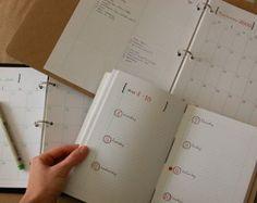 DIY Planner e calendario file digitali PDF di droplet su Etsy