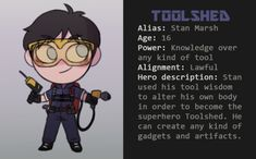 """South Park Superhero AU sarkastic: """"so this is kind of a masterport with all the info about the superhero AU (I'll be adding more info eventually) This au takes place a few years in the future and the. Anime Chibi, Tweek And Craig, Kyle Broflovski, Stan Marsh, South Park Anime, Best Superhero, Park Pictures, Tool Sheds, Best Part Of Me"""