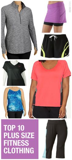 Check out some of these plus size fitness finds by @skinnymom !