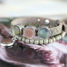 Trendy Armbänder + Ketten aus Polaris Elements Mandala Cabochon!
