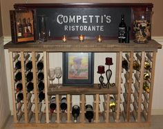 How To Build A Vintage Wine Rack From Pallets Or Reclaimed Lumber