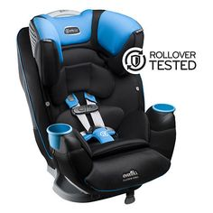 Evenflo continues to redefine industry standards with the FIRST ROLLOVER-TESTED Car Seat. The Platinum SafeMax™ All-In-One Car Seat offers exclusive impact-absorbing headrest technology, as well as an integrated steel frame. SafeMax™ allows your family to travel with peace of mind and provides extended safety from birth to harness booster mode (5-120 lbs).