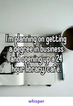 I'm planning on getting a degree in business and opening up a 24 hour…