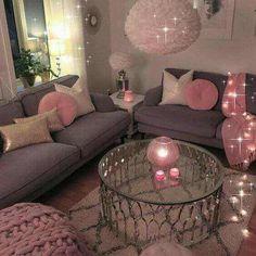 Romantic Living Room Decor With Valentine Themes 42 Romantic Living Room, Cozy Living Rooms, Apartment Living, Living Room Decor, Bedroom Decor, Apartment Ideas, Bedroom Ideas, Teen Bedroom, Glamour Living Room