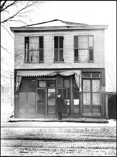 The first public library building in Omaha was at 15th and Dodge. It is shown here in 1877. LOUIS R. BOSTWICK COLLECTION