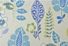 Viewing Folia Vintage Blue by Prestigious Textiles by Stock Fabric Clearance