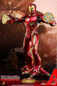 Hot Toys 1/6th scale Iron Man Mark L Accessories Collectible Set [Avengers: Infinity War]